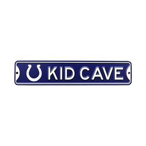 Indianapolis Colts Steel Kid Cave Sign 16x3 16in
