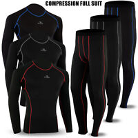 Winter Thermal Mens Compression Base Layer Under Full Suit Tights Pant Shirt Set