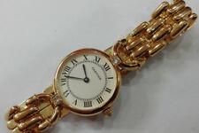 Authentic CARTIER Solid 18k Gold & Diamonds Ladies Watch No Reserve!!!!