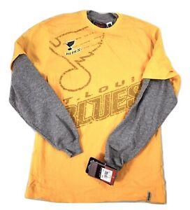 Reebok NHL Youth Boys St. Louis Blues Hockey Shirt NWT M, L
