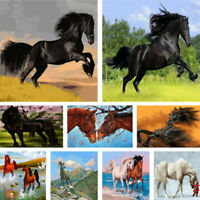 DIY Paint By Number Kit Digital Oil Painting Various Horse Drawing Home Decor