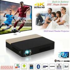 Mini Portable 8000Lumen Android DLP Projector 4K HD 1080P Wifi Smart Home Cinema