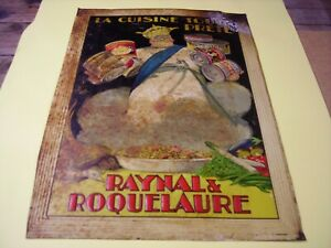 Tôle litho ancienne Raynale Roquelaure objet publicitaire no plaque émaillée