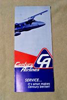 Century Airlines Brochure - 1980