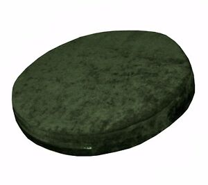 ma20r Dp.Green Velvet Style 3D Round Shape Thick Seat Cushion Cover Custom Size