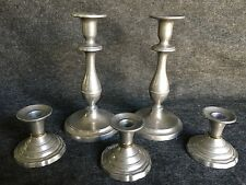 Wilton Pewter Candle Stick Holders Set of 5 Miscellaneous Designs Weddings
