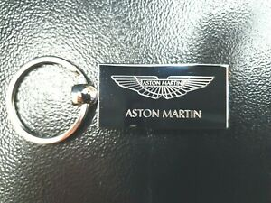 Personalised ASTON MARTIN Keyring In Gift box with message ANY TEXT ON BACK