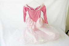 Vintage Disneyland Sleeping Beauty Pink Gown Halloween Dress Up Costume S 6 7