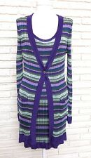Marciano Guess Purple Knit 2pc. Dress And Cardigan Set Size Small