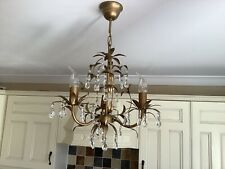 Lavenham Chandelier Laura Ashley  Antique Gold Crystal Droplets