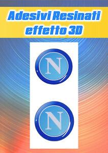 2 Adesivi Napoli Calcio Resinati effetto 3D