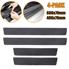 Carbon Fiber Look Car Front&Rear Doo rPlate Sill Scuff Cover Antiscratch Sticker