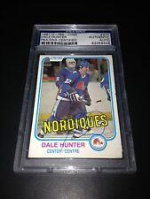 Dale Hunter Signed 1981-82 O-Pee-Chee OPC Rookie Card PSA Slabbed #83356446