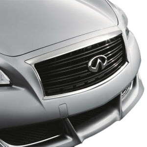 New OEM Infiniti M37 M56 Factory Midnight Black Grille - EMBLEM NOT INCLUDED -