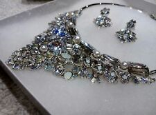 Swarovski Crystal Statement Necklace and Earrings Jewellery Set New