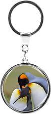 metALUm   Schlüsselanhänger Rund Metall Pinguine 6613006