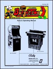 BurgerTime Coin Game Operations/Service/Repair Manual/Arcade Machine Burger Sc