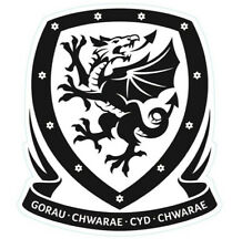 Clear Vinyl Sticker 10x9cm laptop wall car Wales Welsh football Cymru soccer