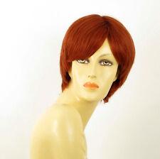 perruque femme 100% cheveux naturel courte cuivré intense ref SHARONA 130