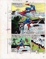 1986 Captain America 324 page 17 Marvel Comics original color guide art: 1980's