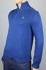 Polo Ralph Lauren Small S Blue 1/2 Half Zip Sweater Yellow Pony NWT