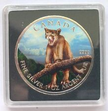 Canada 2012 Cougar 5 Dollars 1oz Colour Silver Coin,UNC