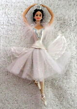 1998 BARBIE THE SWAN QUEEN Christmas ornament AVON & CERTIFICATE porcelain
