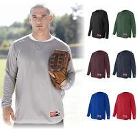 Rawlings Long Sleeve Flatback Mesh XS-5XL Baseball Warmup Sport Pullover, 9705