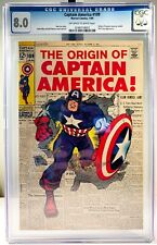 1969 Marvel Captain America #109 Comic Book - CGC 8.0 OW/W Pages