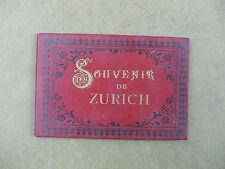 rare album souvenir zurich suisse 15 lithographies 19ème siècle schlumpf
