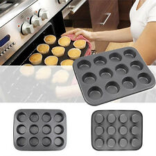 Pop  Nonstick Metal 12 Cups Muffin Cupcake Cake Bakeware Pan Tray Tin Mould GT