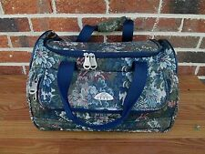 VERDI Floral Tapestry Carry On Travel Bag Weekender Luggage French Chic!