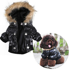 Trendy Warm Small Dog Pet Jacket Coat Clothes Hoodie Jumpsuit Winter Warmer