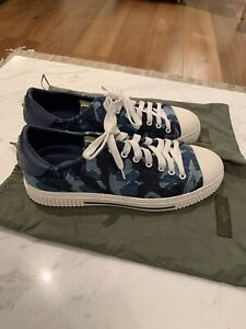 Valentino Garavani Sneakers Trainers Blue Star Mens Casual Shoes Uk 10 Eu 44