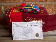 MATCHBOX McDONALD'S 1968 VOLKSWAGEN BEETLE CONVERTIBLE, MIB WITH COA