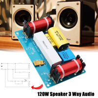 120W Speaker 3 Way Audio Crossover Frequency Divider Loudspeaker Filter Board