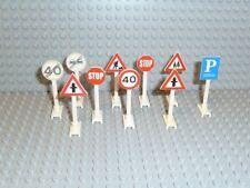 LEGO® Classic Town Zubehör 10x Straßenschilder Verkehrs Zeichen 649 14 F571