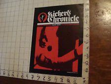 VINTAGE hacky sack paper: KICKER'S CHRONICLE march-may 1982, 8pgsf light wear
