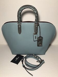 NWT Coach 59984 Dakotah Satchel with Colorblock Snakeskin Detail,  1941