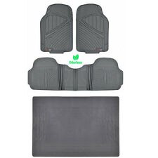 HD All Weather Floor Mats & Liner Set Durable Rubber Gray MOTORTREND