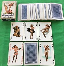 Old Vintage * ARTIST DRAWN PIN UP ART * Risqué Glamour NUDE GIRLS Playing Cards