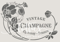 A4 Stencil FLORAL CHAMPAGNE Wine Crate Furniture ❤ Vintage Shabby Chic 190 MYLAR