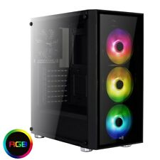 Aero Cool Quartz Mid Tower Gaming Case - Black USB 3.0