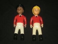 Vintage LITTLE TIKES Dollhouse Stable Riders Jockey