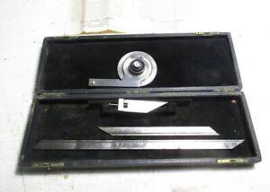 "Starrett No. 359 Universal Bevel Protractor with 12"" & 7"" Rods"