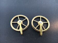 """Vienna Regulator Clock Brass Pulley Set of 2 for weight driven 1 3/8"""" diameter"""