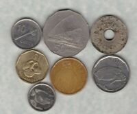 7 COINS FROM FIJI DATED 1934 TO 2014 IN USED OR SLIGHTLY BETTER CONDITION.
