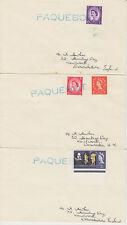 1964 lot of 3 x Honiara British Solomon Islands Paquebot covers