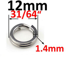 100pcs Paxipa Flat Stainless Steel Fishing Split Ring Loop for Lures Hooks Outer 4mm 5/32inch 200 Rings