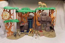 Fisher-Price Imaginext Gorilla Mountain Jungle Playset King Kong + Animals